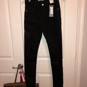 NWT Ripped Black Skinny Jeans